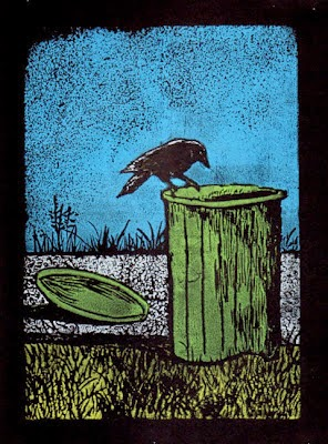 crow on garbage can 2nd print